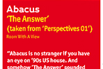 Abacus - The Answer - Secret Weapon of Alex Flitsch